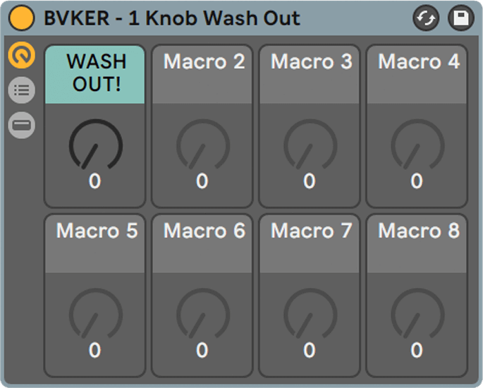 1 Knob Wash Out