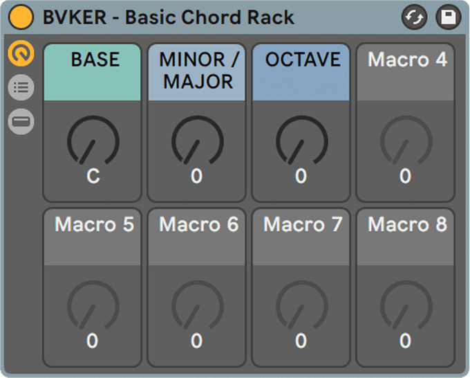 Ableton Chord Rack