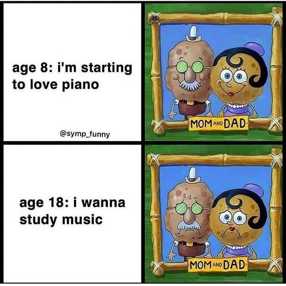 age 8 vs age 18 musician meme