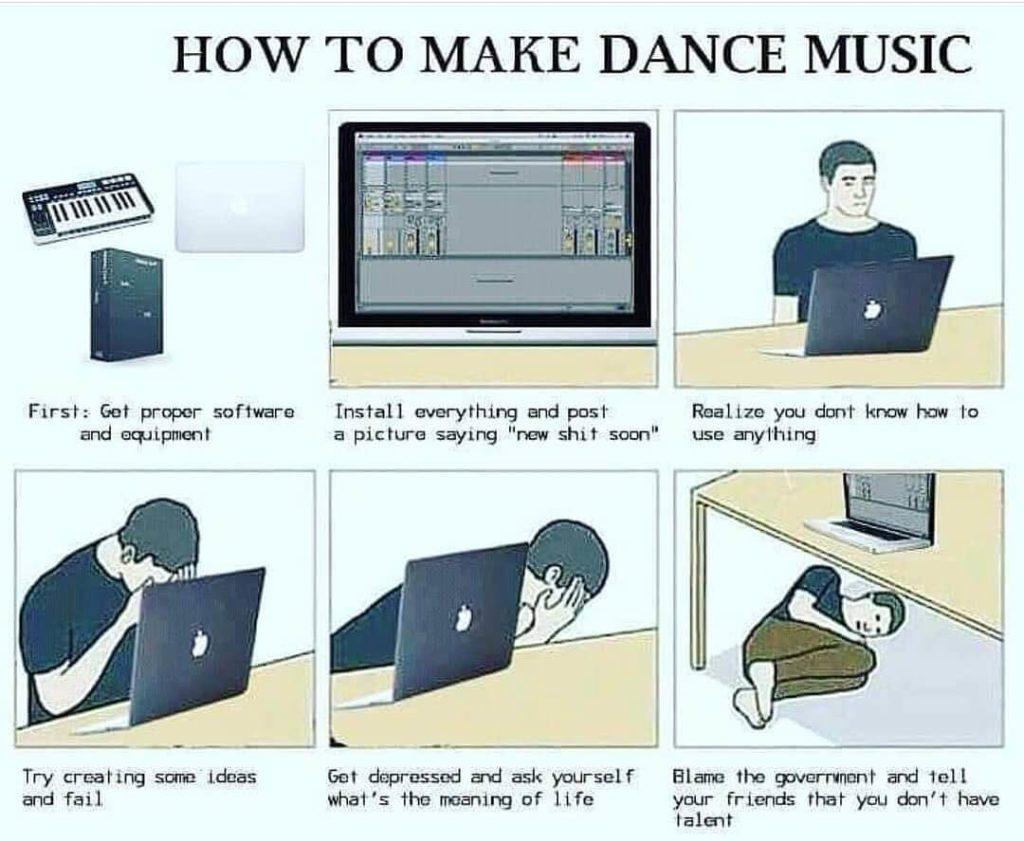 how to make dance music meme