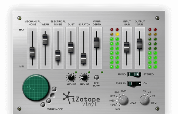 iZotope Vinyl Screenshot