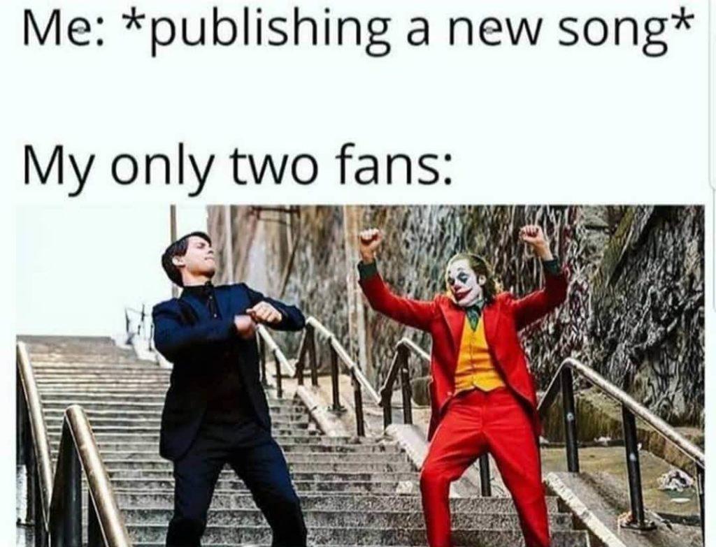 my only 2 fans producer meme