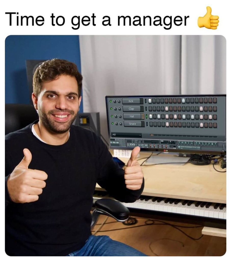 time to get a manager jon sine meme