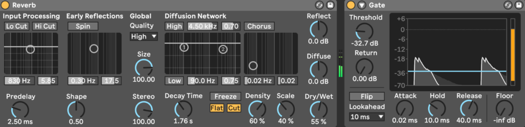 Gated Reverb in Ableton Live