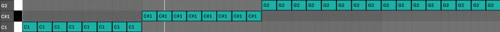 Synthwave Bass Progression