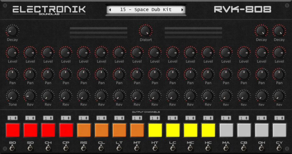Electronik Sound Lab RVK-808 Screenshot