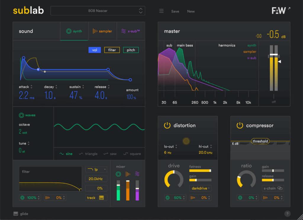 Future Audio Workshop SubLab Screenshot