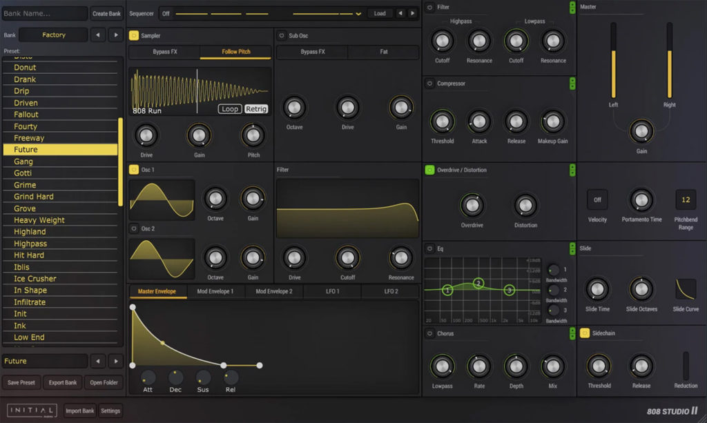 Initial Audio 808 Studio Screenshot