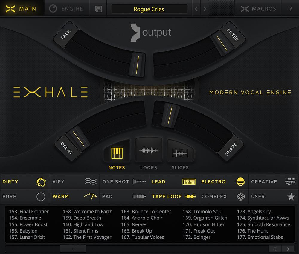 Output Exhale Screenshot