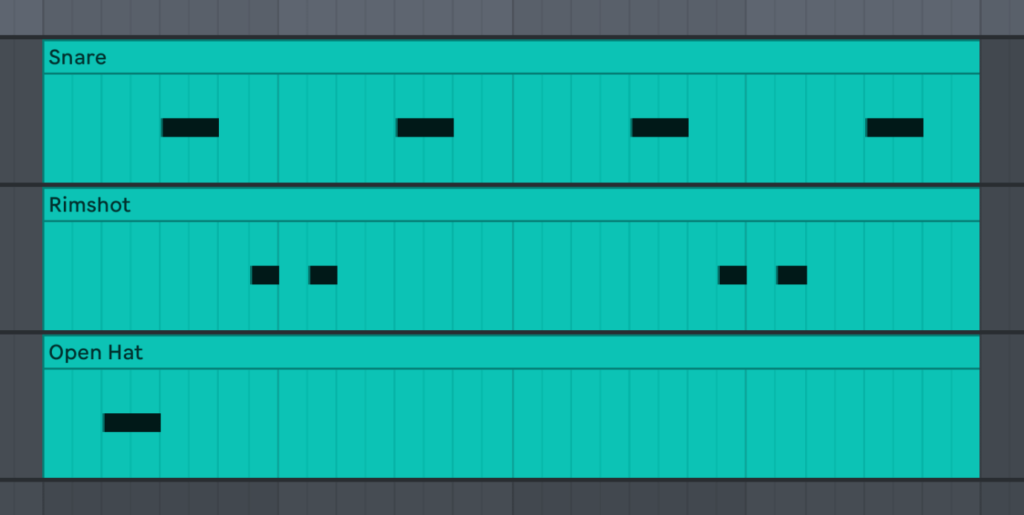 trap percussion pattern - BVKER